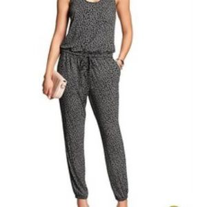 Banana Republic Grey Cheetah Print Jumpsuit